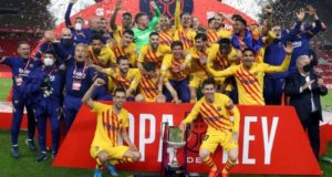 Barcelona thrashed Athletic Bilbao to win Copa Del Rey