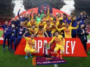 FC Barcelona wins Copa Del Rey 2020-21 season