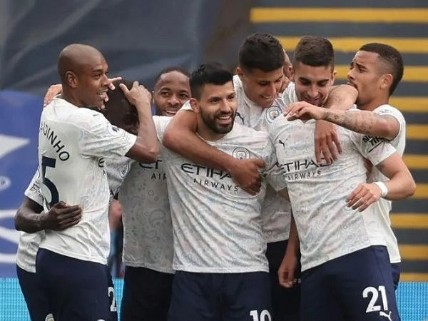 Sergio Aguero scored against Crystal Palace guide Manchester city won 1 May 2021