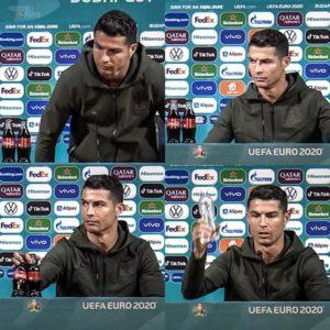 Cristiano Ronaldo removed Coca-Cola bottle during Euro 2020 press conference