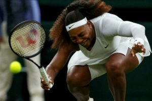 Serena Williams slipped in first round match of Wimbledon 2021 against Aliaksandra Sasnovich